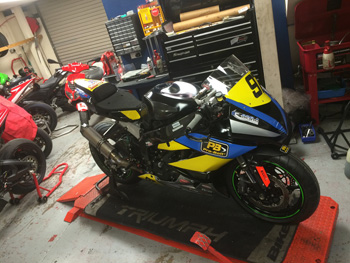 Josh Corner's 2015 bike is ready and waiting for him - but now his new team has no option but to re-advertise the ride - Image by Mark Hanna